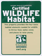 National Wildlife Federation Certified Habitat